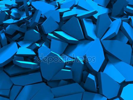 Синяя поверхность трещины
