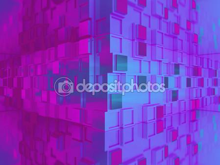 Фон 3d с квадратичной геометрии в углу