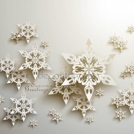 Фотообои 3d снежинки
