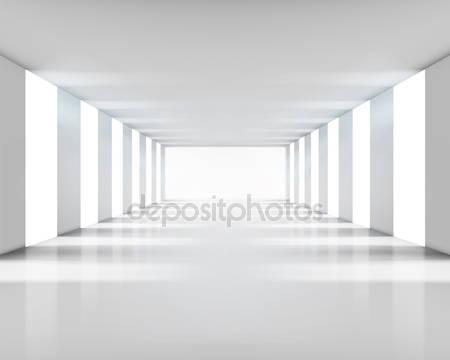 Пустой белый интерьер