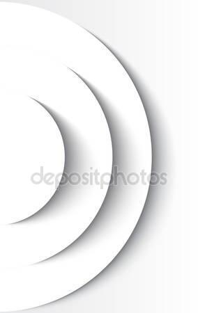 Белый абстрактный круг