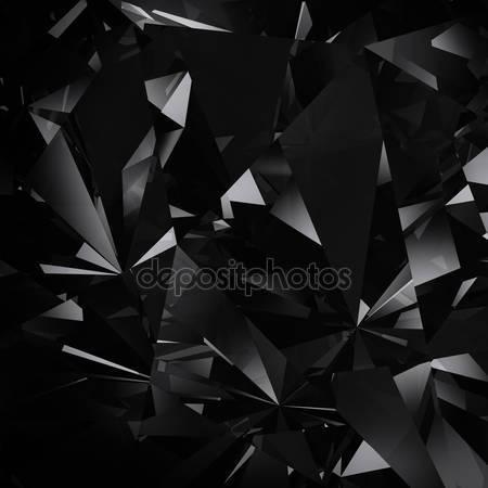 Черные 3d алмазы