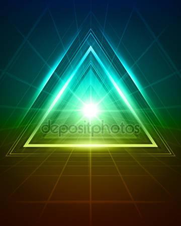 3d абстрактный треугольник