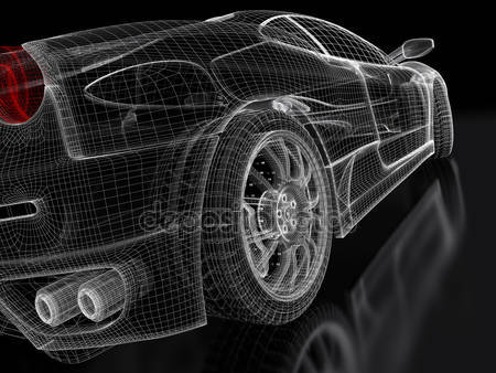 Фотообои 3д модель спортивного автомобиля