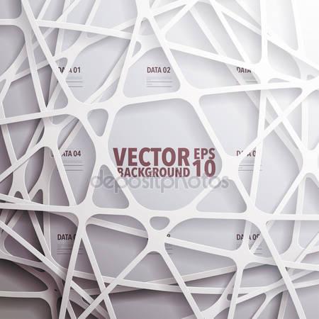 Абстрактная 3d бумажная графика