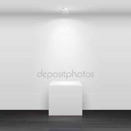 Фотообои 3d пустой белый стенд