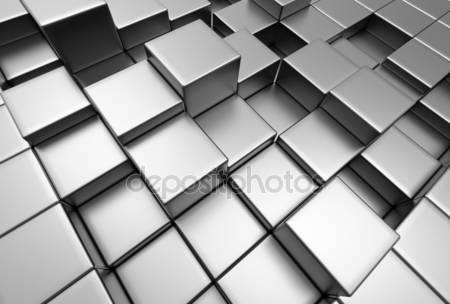 Абстрактный фон городских 3d блоков