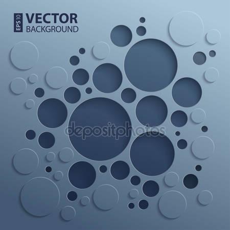 Фотообои Абстрактный 3d фон с темными кругами