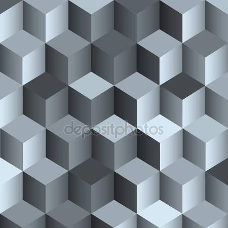 Фотообои 3d монохромный фон с кубом