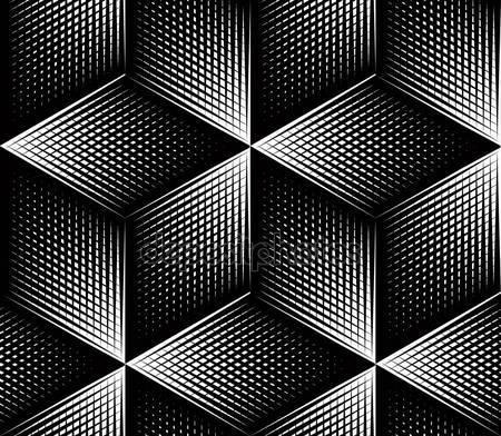Геометрический черно-белый фон