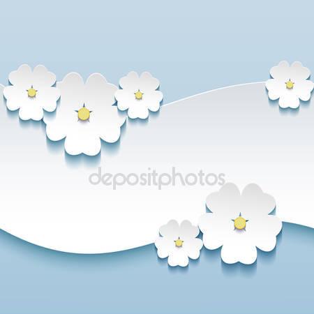 Цветочный фон в 3d