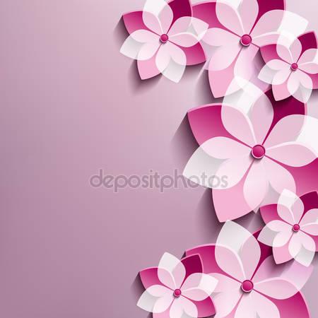 Фотообои 3d цветы сакуры