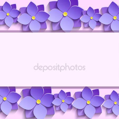Фотообои 3d цветы фиалки
