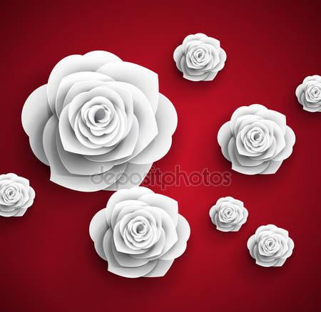 Бумажные 3d розы
