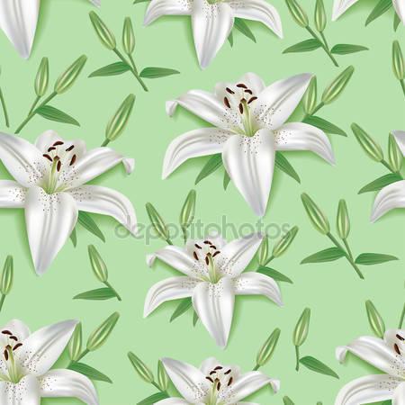 Фотообои 3d цветок лилии