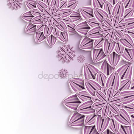 Фотообои 3d бумажные цветы