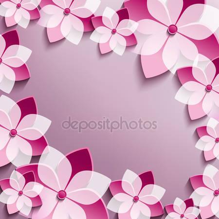3d цветы сакуры