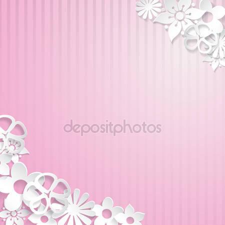 Фон с цветами бумаги
