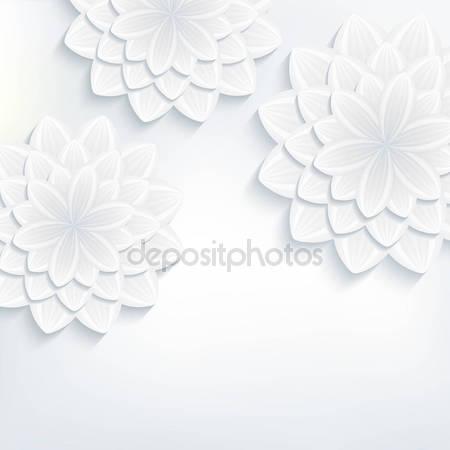 Открытка с 3d цветками хризантемы
