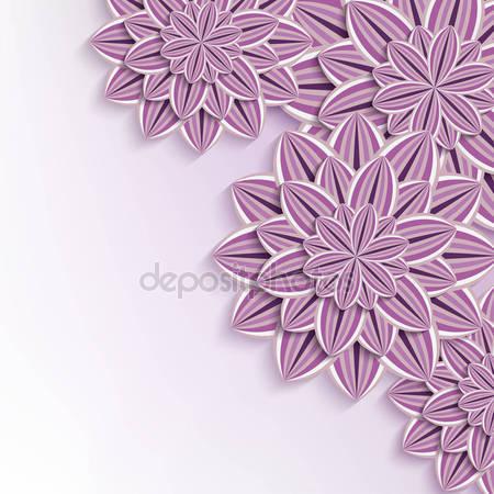 Фотообои 3d цветы бумаги
