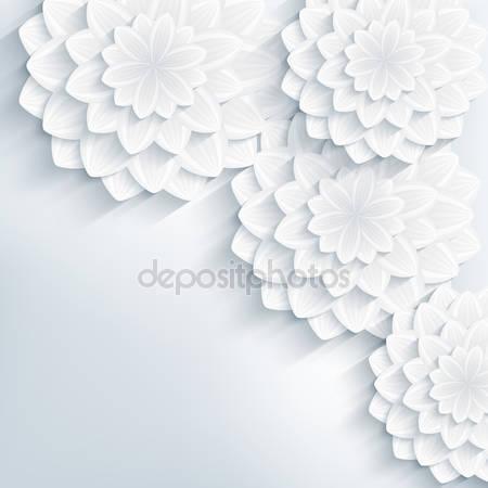 Абстрактный фон с 3d цветами