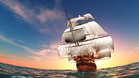 Фотообои Парусная лодка