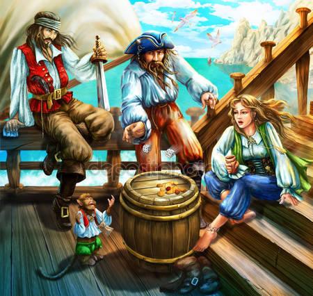 Пираты играют в кости