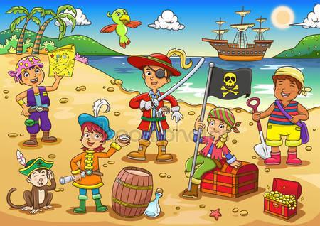 Фотообои Пират детского мультфильма