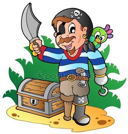 Фотообои Мультфильм молодой пират