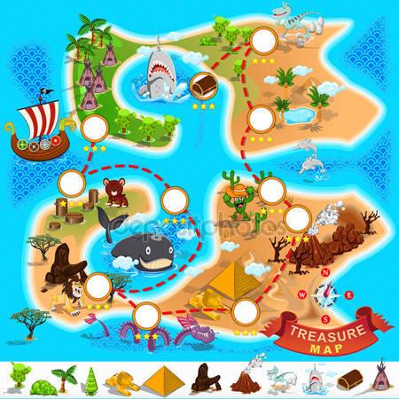 Фотообои Пиратская карта сокровища