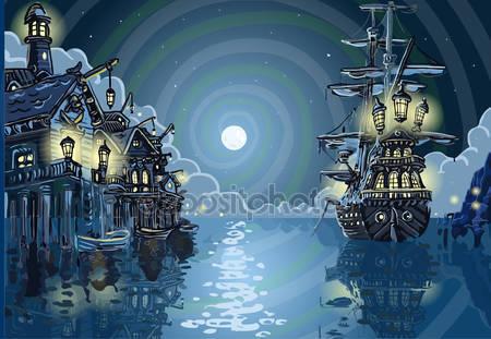 Фотообои Остров приключения — залив бухты пиратов
