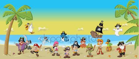 Фотообои Мультфильм пиратов