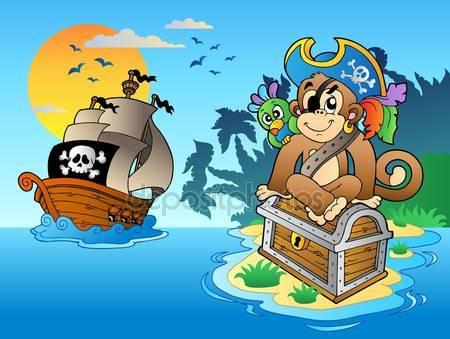 Фотообои Пиратская обезьяна