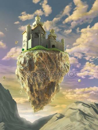 Плавающий замок в облаках