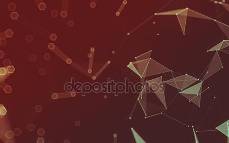 Абстрактный космический полигональный фон