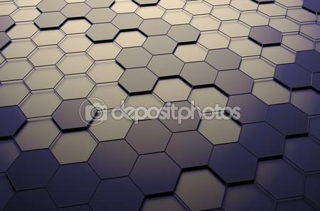 Абстрактные 3d поверхности с шестигранники