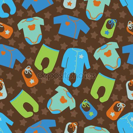 Фотообои Одежда для новорожденного мальчика
