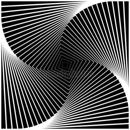 Дизайн монохромных вихрей