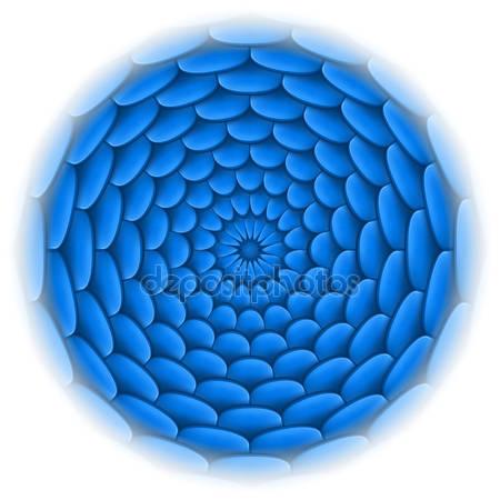 Абстрактный дизайн голубой круг