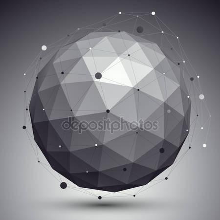 3d орбитальные фигуры с сеткой