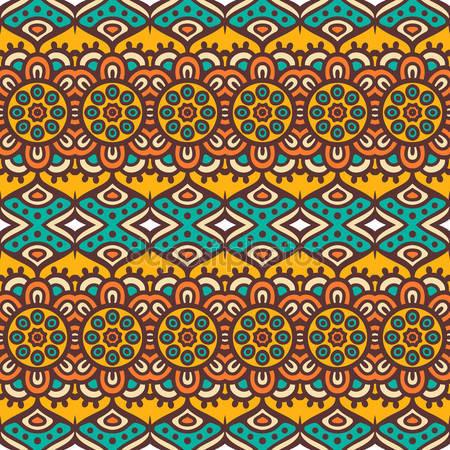 Этнический цветочный фон