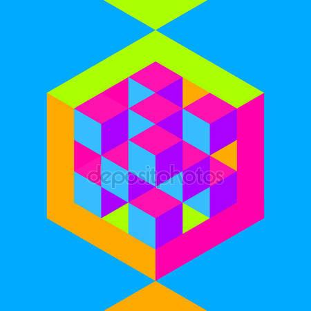 Шестигранная форма с кубами