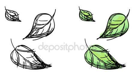 Рисунок падающих листьев