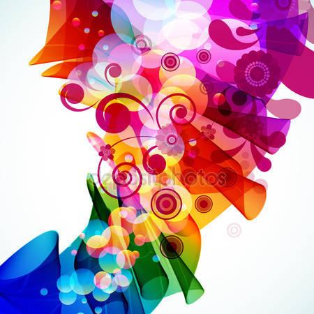 Фотообои Абстрактный цветочный фон