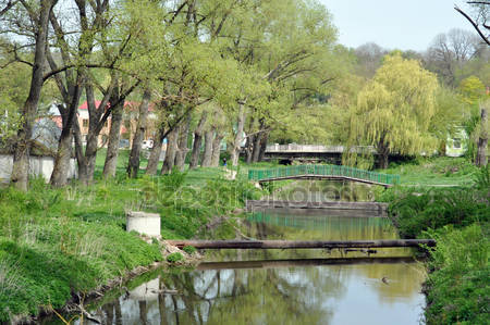 Красивый парк весной