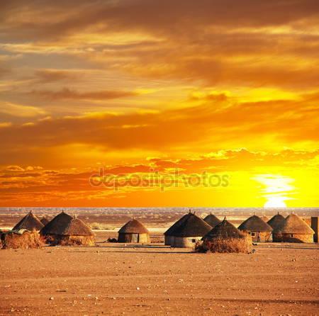 Фотообои Африканская деревня