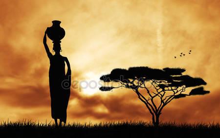 Фотообои Африканская женщина