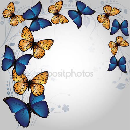 Фотообои Фон бабочки