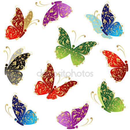 Красивый арт бабочки