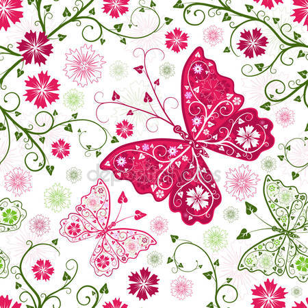 Узоры из бабочек